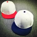 2015 Fashion Women Vintage Linen Solid color Baseball Caps Patchwork Flat Brim Hat skateboard cap hiphop men White Snapbacks