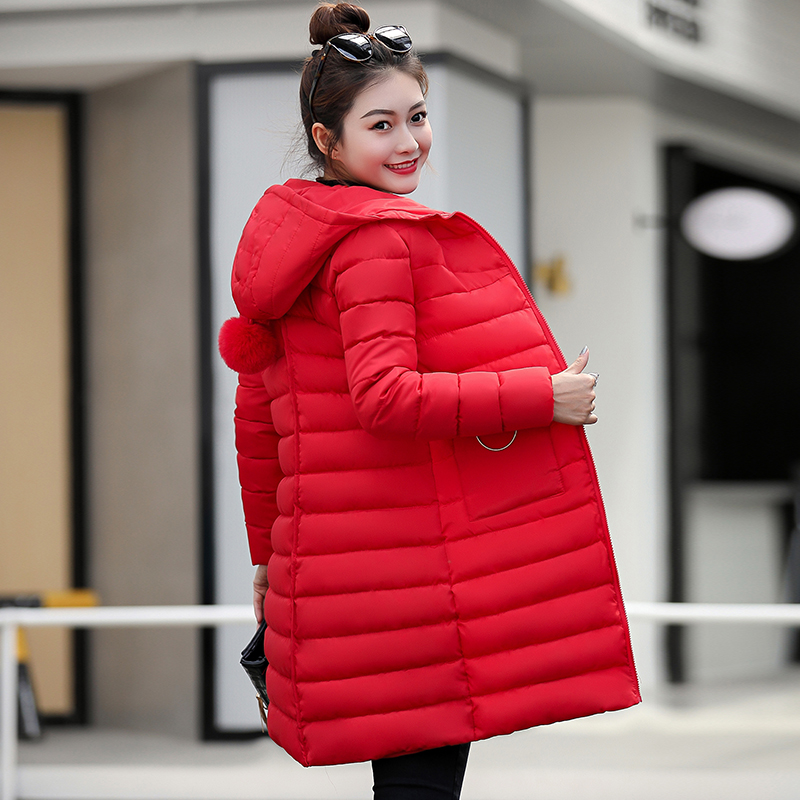 Hooded Jacket Outwear Women Cotton New-Fashion Warm Thick Slim Large-Size Students