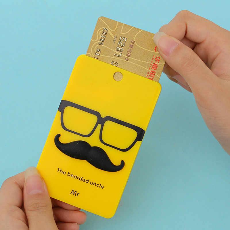PVC Card บัตรเครดิตรถบัสกรณีน่ารักน่ารักการ์ตูน PANDA เป็ด Monster Key แหวนกระเป๋าอุปกรณ์เสริม KT5