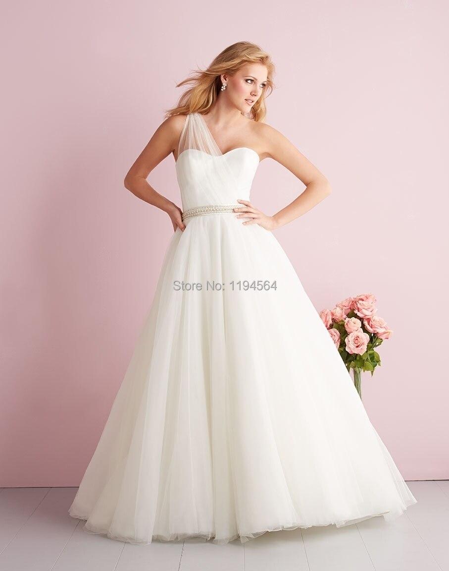 One Shoulder Grecian Style Wedding Dresses | Wedding
