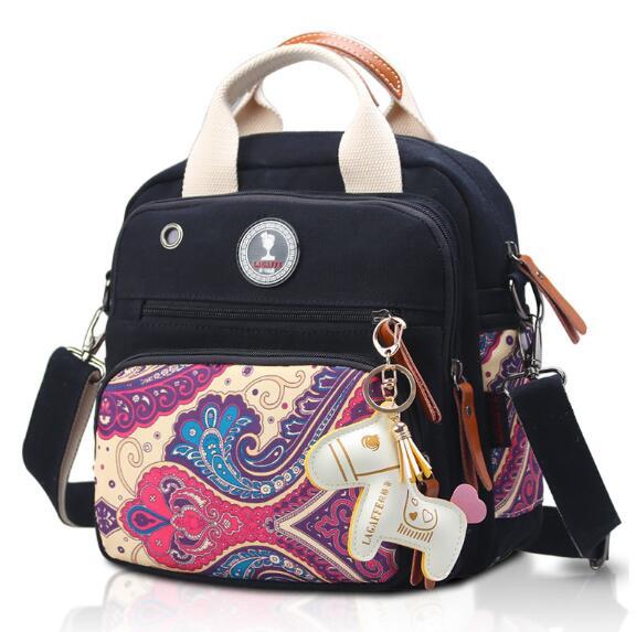 Sac de bébé de taille moyenne coloré sac momie d'isolation sac d'épaule aslant portable sac femme sac à dos en toile multifonction-in Sacs à dos from Baggages et sacs    1