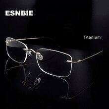 טיטניום מסגרת המשקפיים גברים ללא מסגרת ללא שפה משקפיים אופטיים מסגרת משקפיים נשים משקפיים מרובעות באיכות גבוהה
