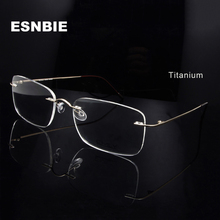 Titanium Eye Glasses Frame for Men  Frameless Rimless Glasses Optical Frame Eyeglasses Women High Quality Square Spectacles