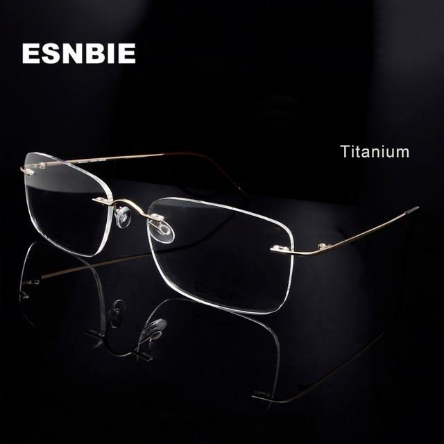 Titanium Eye Glasses Frame for Men  Frameless Rimless Glasses Optical Frame Eyeglasses Women High Quality Square Spectacles