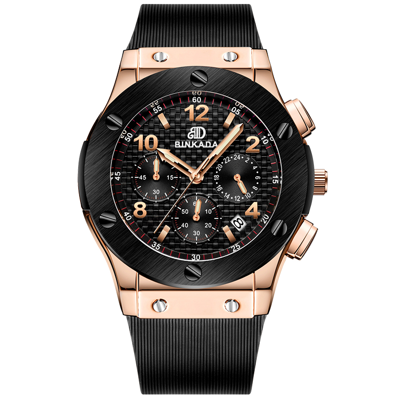 New BINKADA Quartz font b Watch b font Men Sport font b Military b font font