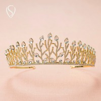 CLEARANCE SALE Crystal Princess Crown Rhinestone Tiara Bridal Headpieces Pageant Wedding Hair Jewelry Accessories Decorations