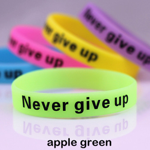 50pcs Never Give Up...