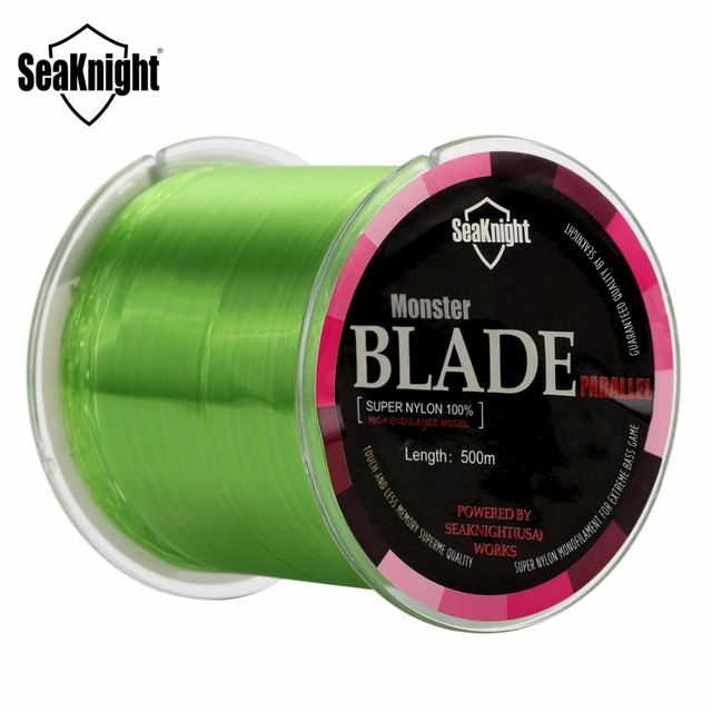 Best Price SeaKnight BLADE 500M Nylon Fishing Line 2-35LB Japan Material Monofilament Carp Fishing Line Rope Saltwater Linha Fishing Teckle