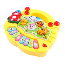 1 PC Baby Musical Toys Educational Animal Farm Piano Developing Musical Toys with Animal Sound Cute Mini Sounding Toys New Brand