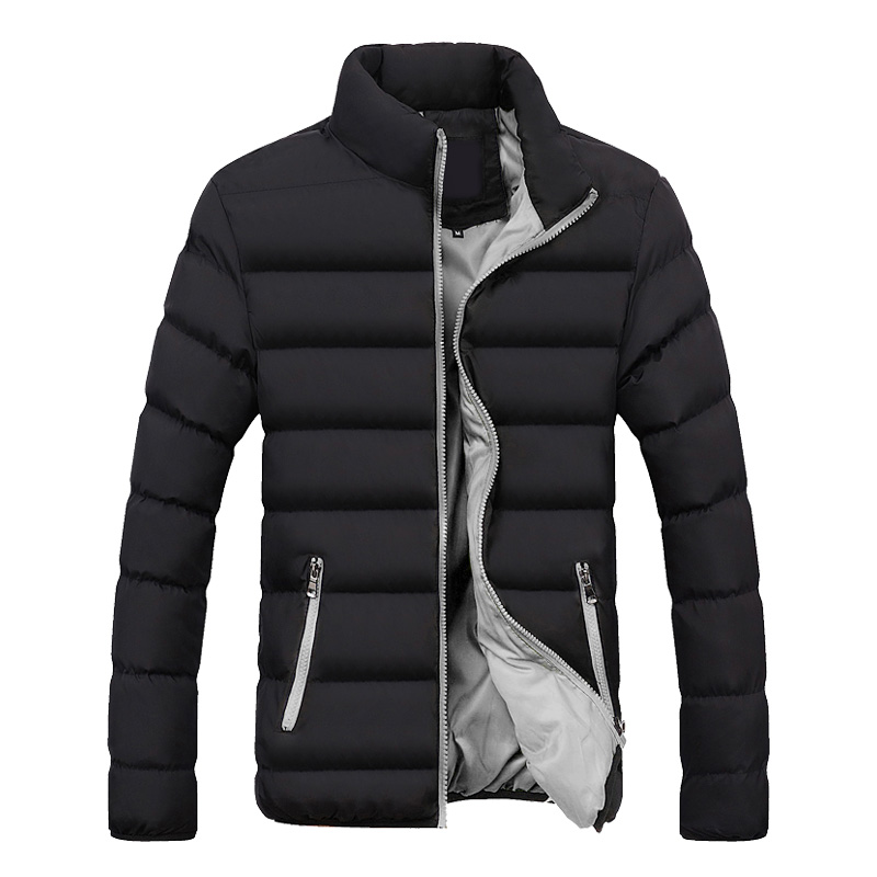 Winter Jacket Men 2018 Fashion Stand Collar Male Parka Jacket Mens Solid Thick Jackets And Coats Man Winter Parkas Outerwear