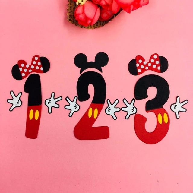 Mickey Minnie love boy bow Metal Cut Dies Christmas Stencils For DIY Scrapbook Paper Card Decorative Craft Embossing Die Cuts