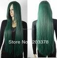 Long straight 100cm Dark Green Cosplay Wig (Free Shipping)