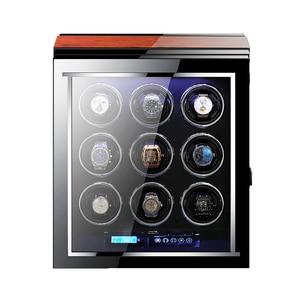 Image 4 - M & Q uhrenbeweger اليابانية mabuchi محرك خشبي تحكم آمن led التلقائي ملفاف ساعة ملفاف صندوق