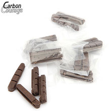4pcs Road Bicycle Brake Pads Bicycle Pads V/Disc Brake Pads Fit Caliper Brake Bicycle Brake Shoes For Carbon Wheelset Cork Wood front disc disk brake pump caliper for honda cr125 cr250 crf250 crf450 x r brake caliper with carbon fiber pads
