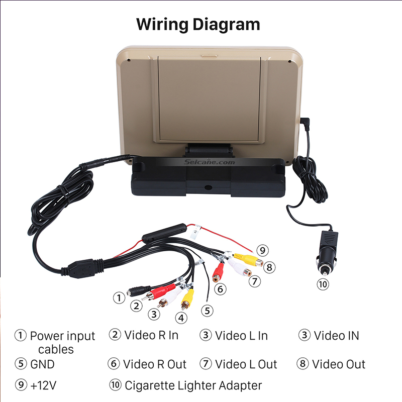 Headrest dvd player wiring diagram circuit connection diagram 1 pair universal car headrest player auto bracket dvd with full hd 9 rh aliexpress com car headrest dvd player wiring diagram portable dvd player circuit asfbconference2016 Image collections