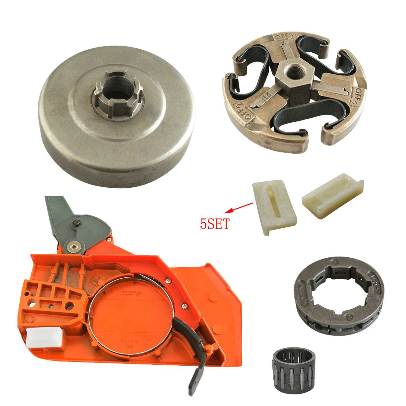 Chain Brake Handle Sprocket Clutch Drum For HUSQVARNA 61 66 162 266 268 272 chain brake cover handle clutch drum bell for husqvarna 61 268 272 xp 272xp 266 66 chainsaw