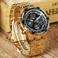 Fashion Military Auto Date Display Stainless Full Steel Strap Male Clock Men Wristwatch Quartz Sport Watch relogio masculino