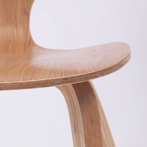 CH177 Wholesale Natural Side Chair Walnut Or Ash Wooden Norman Cherner Chair  Plywood Chairs Red Black White Dining Chair