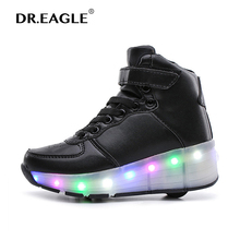 Adult a child Roller shoe with wheel SHOES WITH WHEELS shoe de rodinha with led and lights Sneaker rolling for boys girls skates