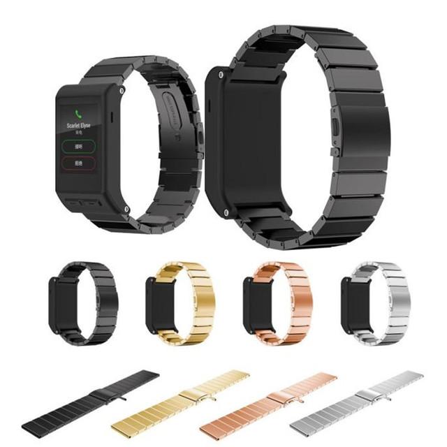 Hl clásico hebilla de moda correa de reloj de pulsera de acero stailess banda para garmin vivoactive hr 30 de agosto