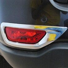 משלוח חינם באיכות גבוהה ABS Chrome אחורי ערפל מנורות כיסוי לקצץ ערפל מנורת צל לקצץ עבור ג יפ גרנד צ רוקי