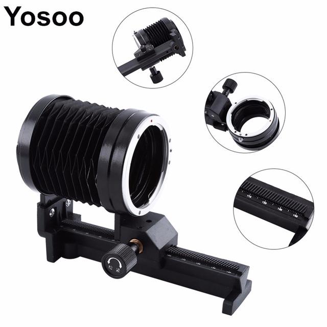 Tubo de extensión macro fuelle lente trípode fuelle de extensión para canon eos ef montaje de cámara de enfoque