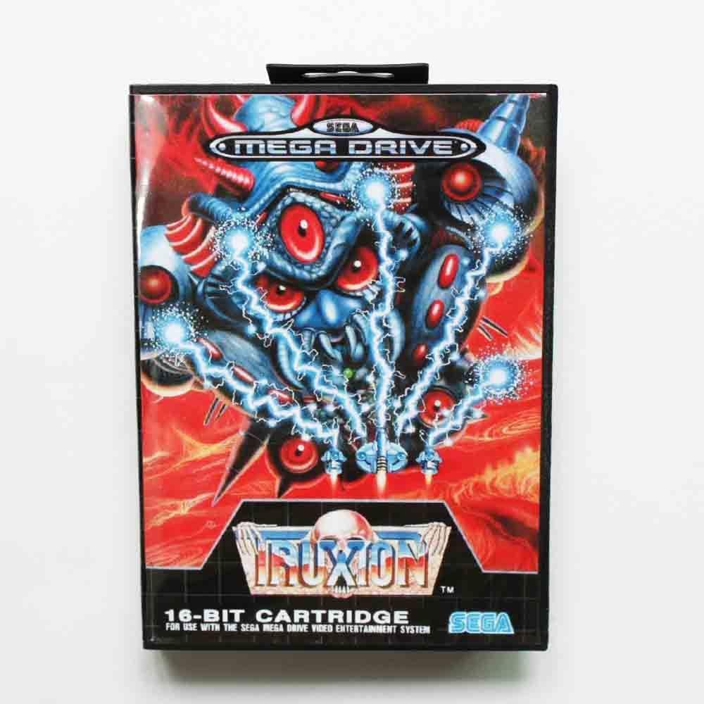 Truxton Game Cartridge 16 bit MD Game Card With Retail Box For Sega Mega Drive