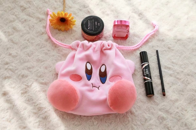 Kirby Super Star Plush Toy, Pillow, Eye Patch, Slipper, Key Chain, and Bag  3