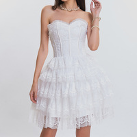 White Satin With Floral Lace Ruffles Victorian Sexy Bridal Corsets And Bustiers Wedding Corset Dress Gothic Korsett For Women