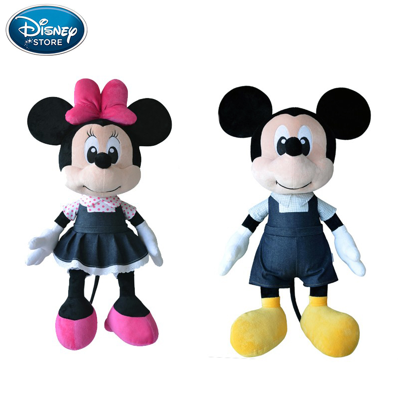 все цены на Disney Plush Toys Cowbo Mickey Mouse Minnie Plush Toys Doll Boys Girls Stuffed Doll Birthday Gifts Toys For Children Baby