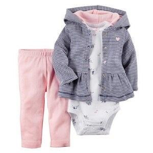Image 4 - 2017 Baby Boys Clothes Sets Newborn Bodysuit Pant Jacket 3 pcs Suit Fashion Bebe Girl Clothing Children Sport Suit Cotton Outfit