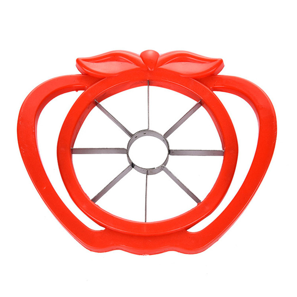 Apple Slicer Corer Cutter Pear Fruit Divider Tool Comfort Handle for Kitchen Apple Peeler Kitchen Gadget Random Color