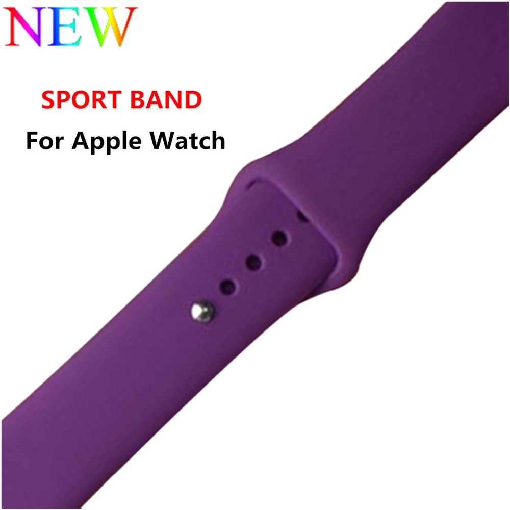 CRESTED Sport Silicone strap For Apple watch band 42mm 38mm iwatch series 3 2 1 rubber wrist bands Bracelet smart watchband belt crested crazy horse strap for apple watch band 42mm 38mm iwatch series 3 2 1 leather straps wrist bands watchband bracelet belt