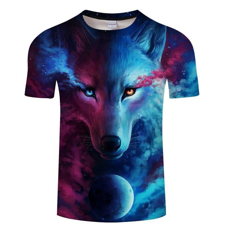 Wolf 3d T-shirt Where Light And Dark Meet