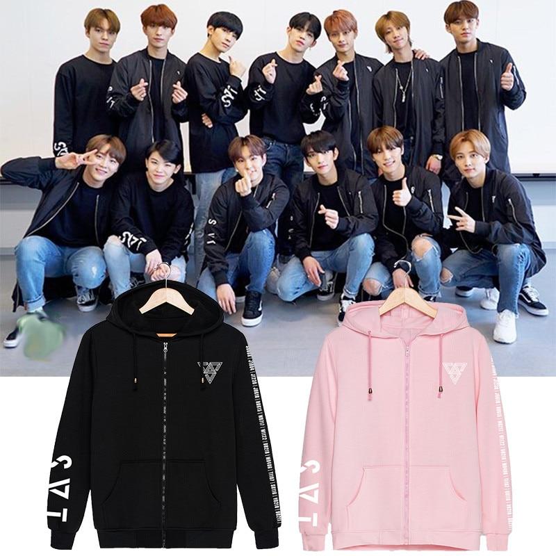 New Kpop Korean Fashion Seventeen 2019 Japan Arena Svt Concert O-neck Cotton Hoodies Pullovers Sweatshirts Men's Clothing
