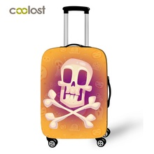 18-28 Inch Funny Emoji Suitcase Cover Women Travel Luggage Suitcase Protector for Boys Girls Trolley Durable Protective Cover