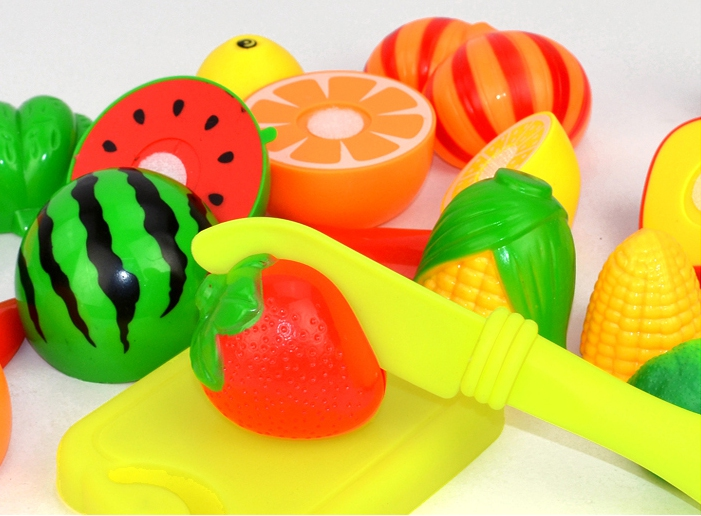Fancy Kitchen Play Toys Simulation Can Cut Fruits And Vegetables Earnestly The Unisex Finished Goods Plastic Food