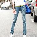 Женщины новый Корейский звезда шаблон вышитые джинсы женские ноги карандаш брюки брюки тонкий тонкий брюки студенты мода джинсы S2247