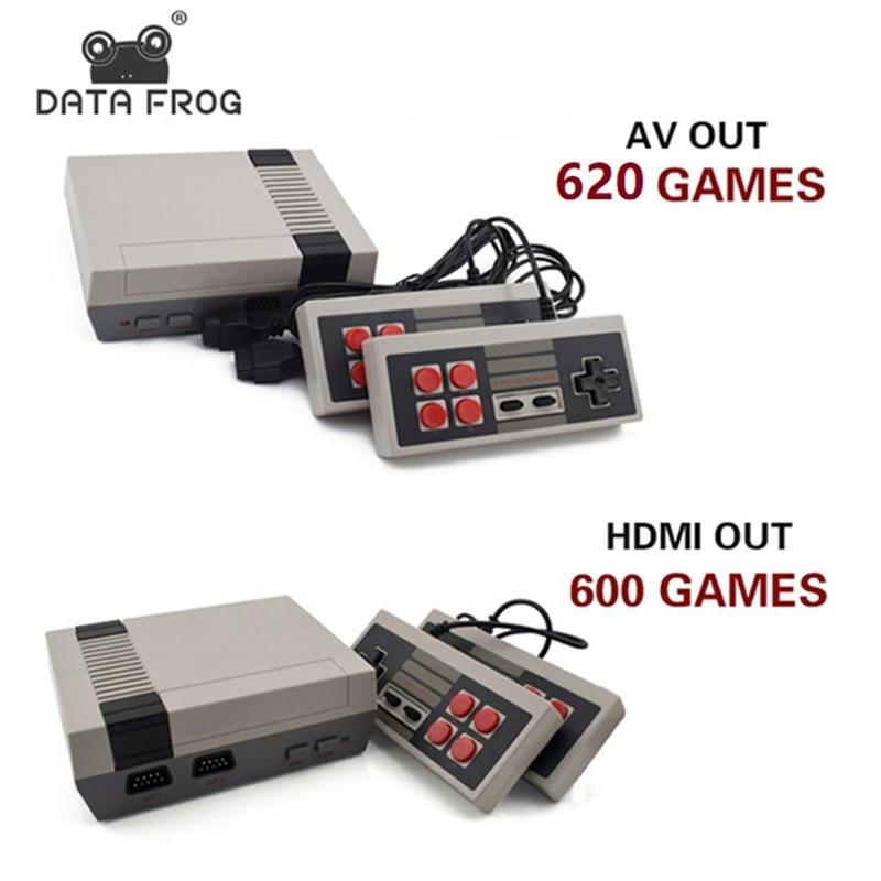 Data Frog Mini TV consola de juegos soporte HDMI/AV 8 poco Retro Video Game Console built-in 600/620 juegos de mano jugador del juego