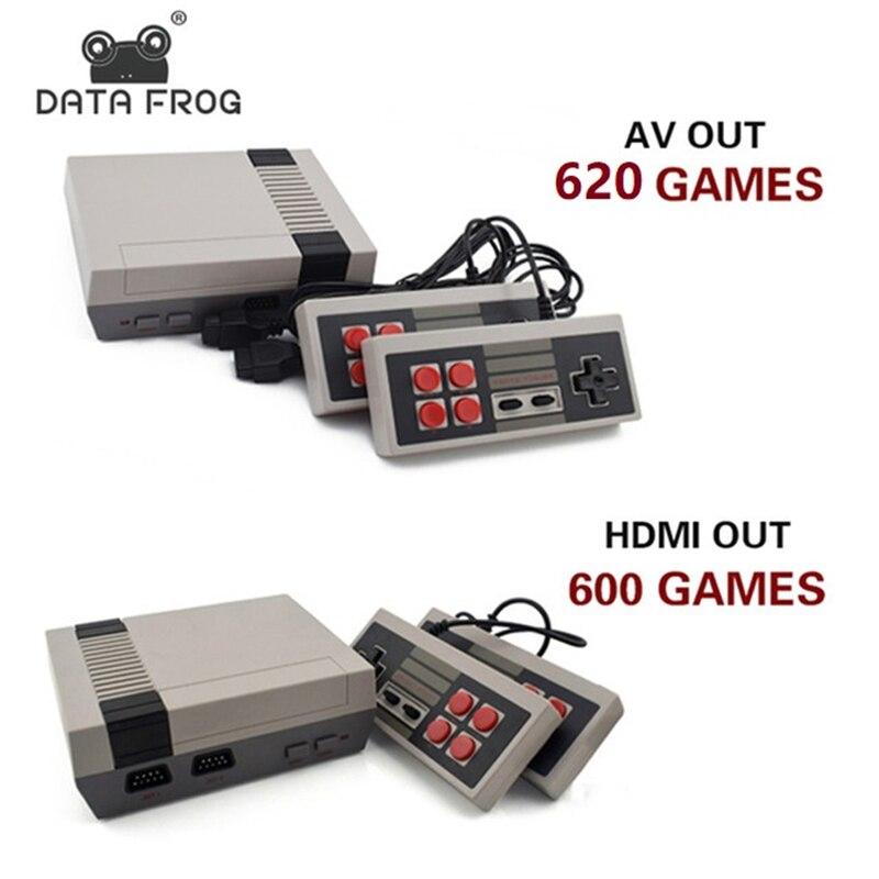 Dati Rana Mini Console di Gioco TV di Sostegno HDMI/AV 8 Bit Retro Video Console di Gioco Built-In 600/620 Giochi Portatili giocatore di gioco