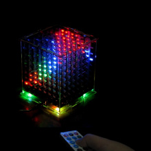 3D8 multicolor 8x8x8 Kits/Junior led digital mild cubeeds diy equipment with  LED Music Spectrum,Christmas Present