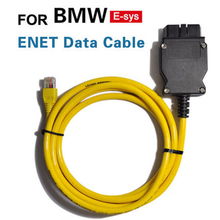 KWOKKER New ESYS 3.23.4 V50.3 Data Cable For bmw ENET Ethernet to OBD Interface E-SYS ICOM Coding for F-serie Free Shipping