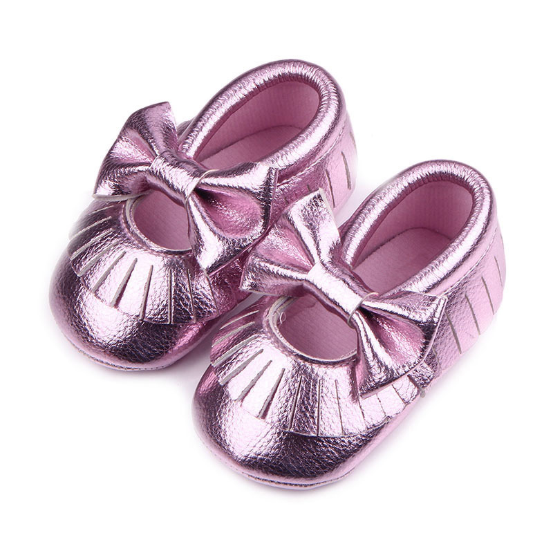 Hot Newborn Infant Baby Toddler Solid Color Soft Cozy Girls Cute Walking Shoes ...