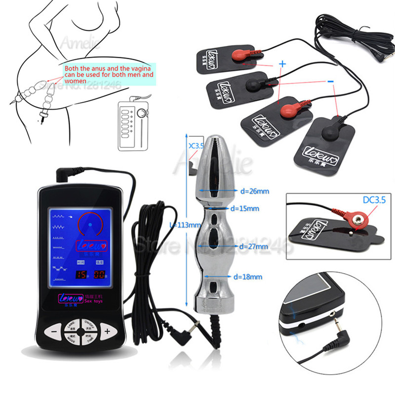 Sm Products Electric Shock Kit Massage Pad Anal Butt Plug Speculum Electro Sex Medical Themed Toys Electro Shock Sex Toys For Men Women Gay To Reduce Body Weight And Prolong Life