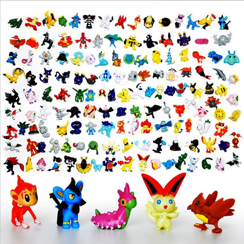 144PCS/lot Pokemonend PVC <font><b>Action</b></font> <font><b>Figure</b></font> Toys Japanese <font><b>Anime</b></font> <font><b>Figure</b></font> Different Styles <font><b>Pikachu</b></font> Boy Girl Toy <font><b>Figures</b></font> <font><b>Pokeball</b></font> Mon Go