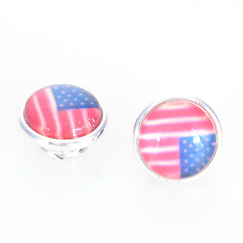 Miasol USA bandera de Canadá enchapado en plata de latón joyería ajustes DIY Kameleon encanto pulseras collar anillo fabricación de joyería
