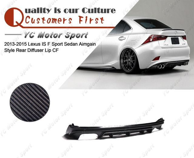 Car Accessories Carbon Fiber Aimgain Style Rear Diffuser Fit For 2013 2015 Lexus Is F