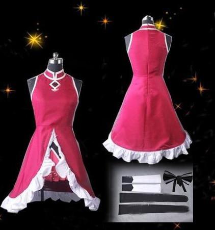 Anime Puella Magi Madoka Magica Sakura Kyoko Cosplay Costume red costume