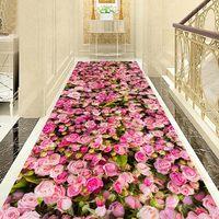 3D Çiçek Koridor Halı Oturma Odası Ev Dekoratif Merdiven Halı Otel Koridor Halı Giriş/Koridor Paspas Kaymaz Yatak Odası halı Halı    -