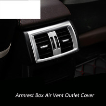 Inner Rear Armrest Box Air Vent Outlet Cover Trim For BMW X3 F25 2011-2015 2pcs